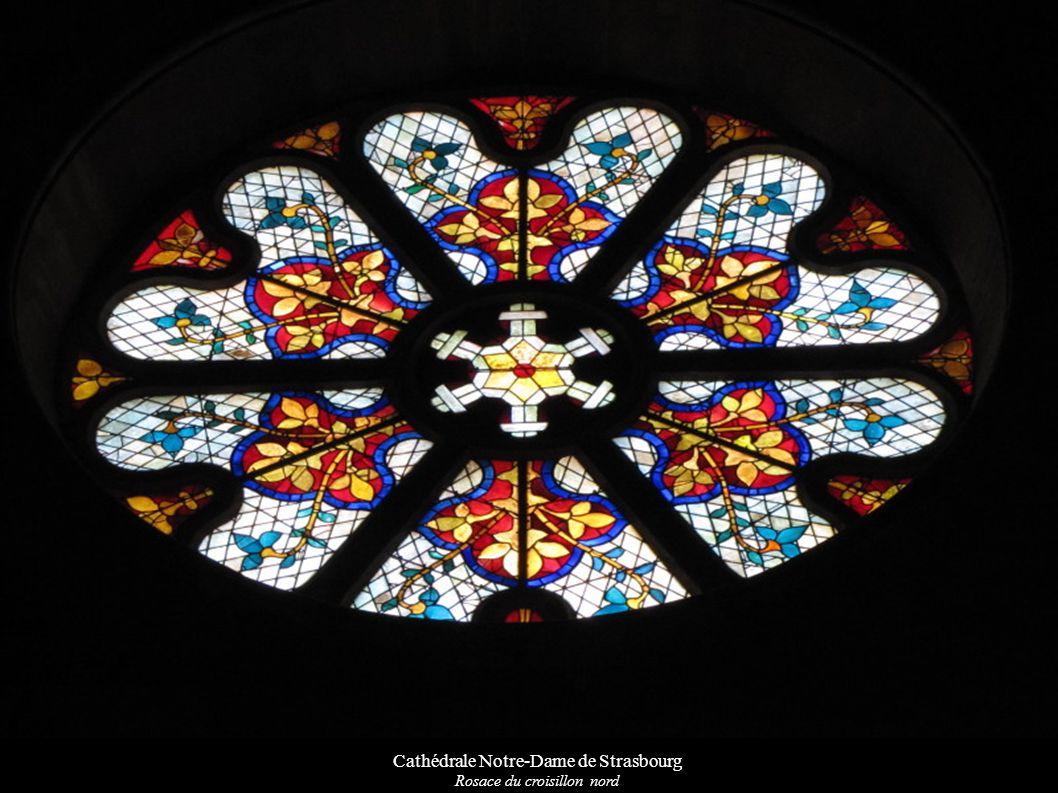 Cathédrale Notre-Dame de Strasbourg Rosace du croisillon nord