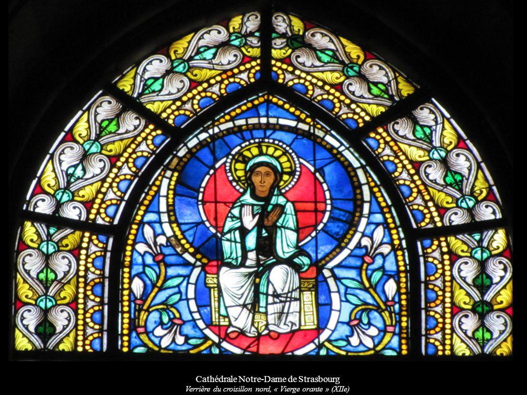 Cathédrale Notre-Dame de Strasbourg Verrière du croisillon nord, « Vierge orante » (XIIe)