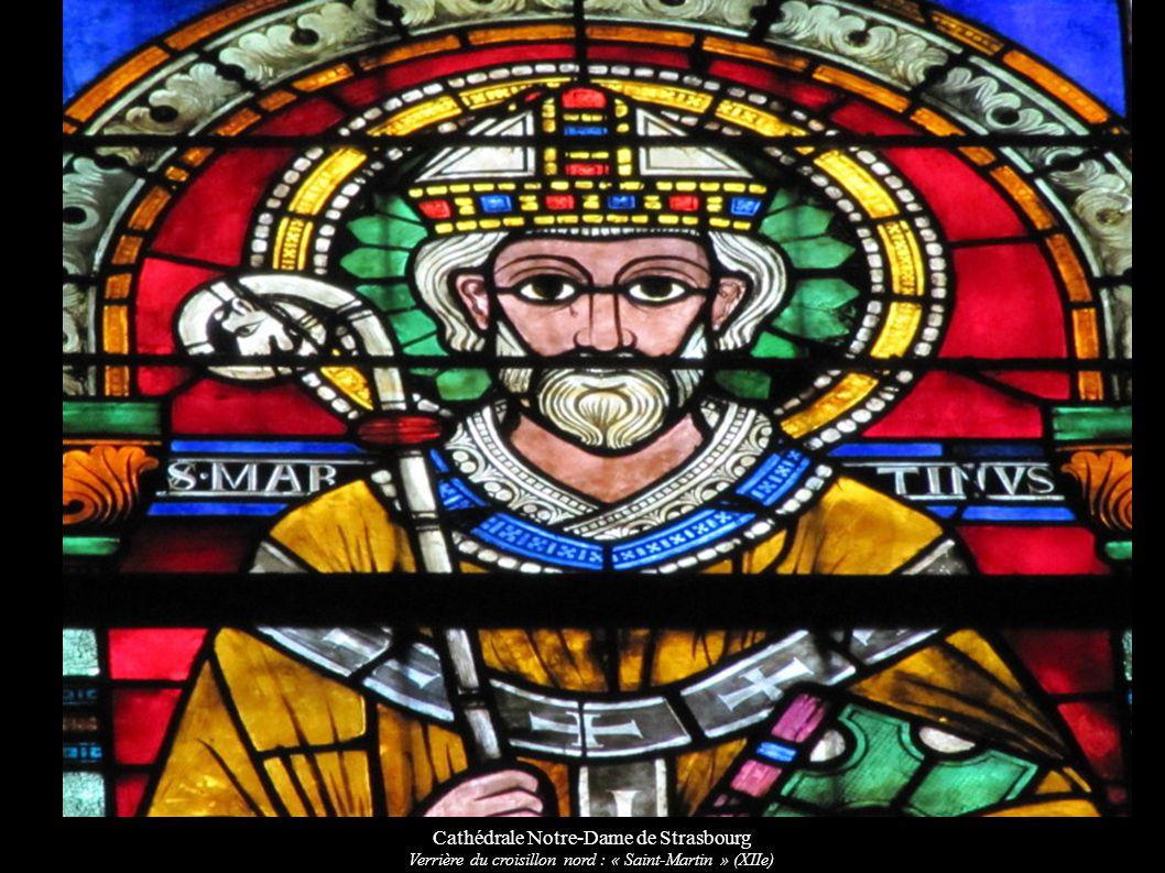 Cathédrale Notre-Dame de Strasbourg Verrière du croisillon nord : « Saint-Martin » (XIIe)