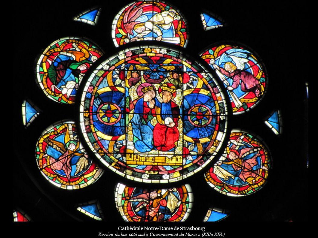Cathédrale Notre-Dame de Strasbourg Verrière du bas-côté sud « Couronnement de Marie » (XIIIe-XIVe)