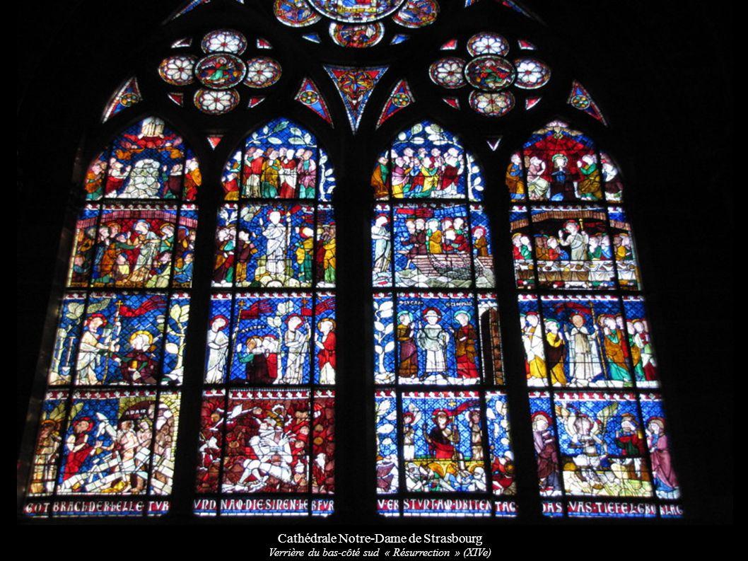 Cathédrale Notre-Dame de Strasbourg Verrière du bas-côté sud « Résurrection » (XIVe)