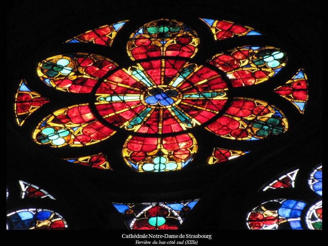 Cathédrale Notre-Dame de Strasbourg Verrière du bas-côté sud (XIIIe)
