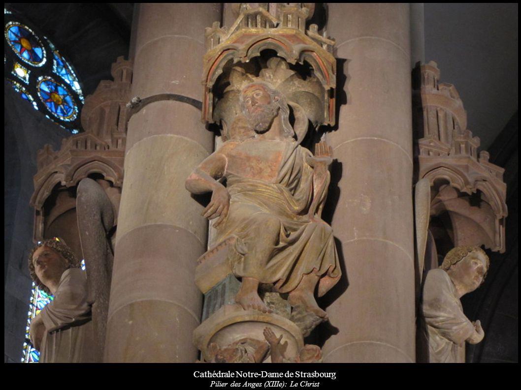 Cathédrale Notre-Dame de Strasbourg Pilier des Anges (XIIIe): Le Christ