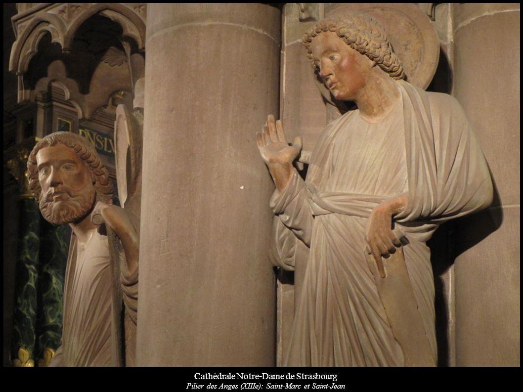 Cathédrale Notre-Dame de Strasbourg Pilier des Anges (XIIIe): Saint-Marc et Saint-Jean