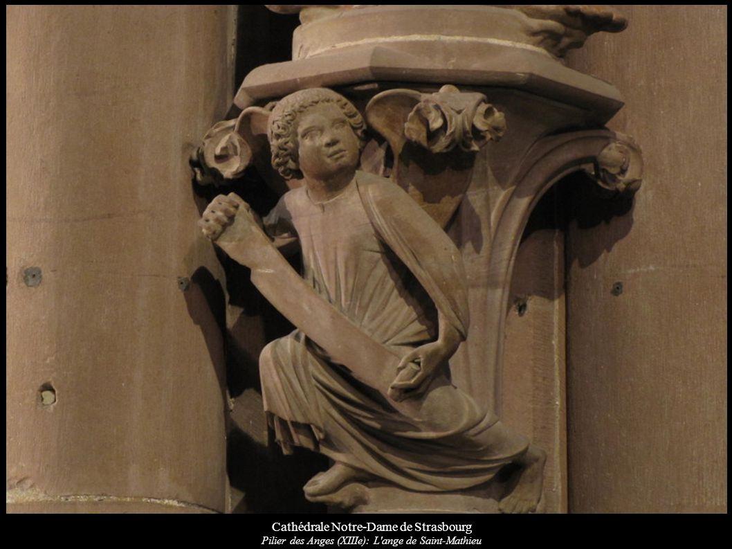 Cathédrale Notre-Dame de Strasbourg Pilier des Anges (XIIIe): L'ange de Saint-Mathieu