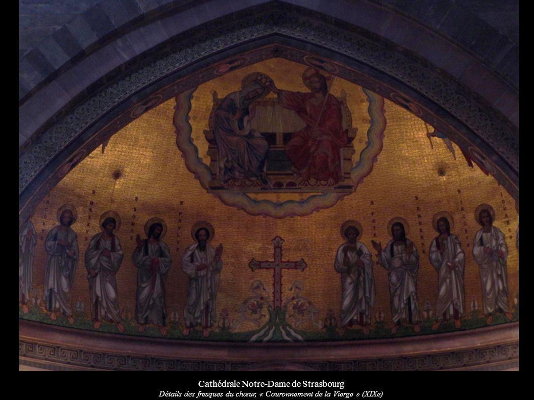 Cathédrale Notre-Dame de Strasbourg Détails des fresques du chœur, « Couronnement de la Vierge » (XIXe)