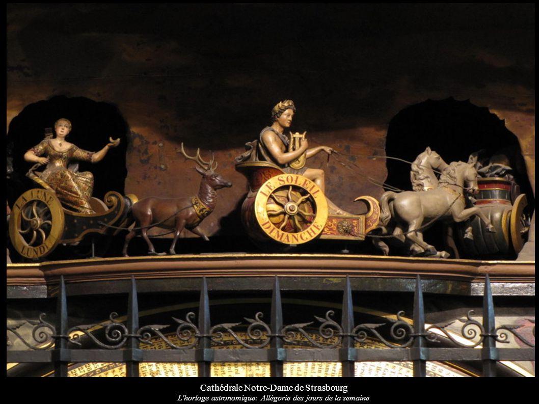 Cathédrale Notre-Dame de Strasbourg L'horloge astronomique: Allégorie des jours de la semaine