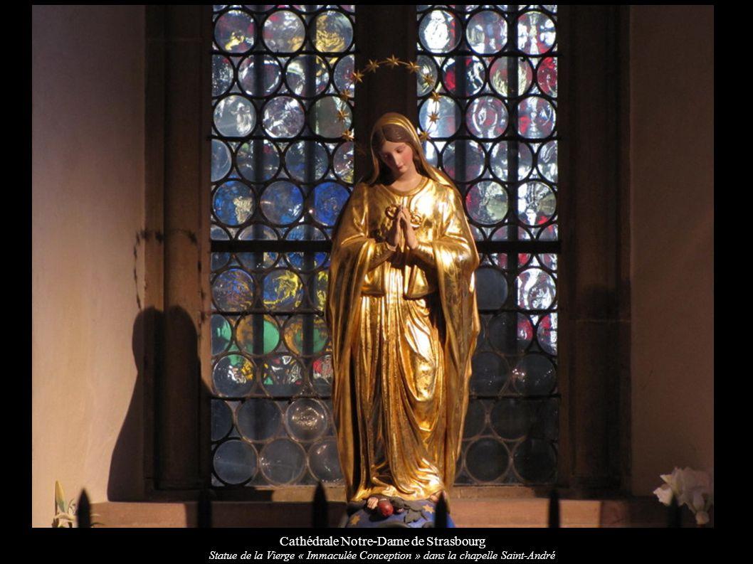 Cathédrale Notre-Dame de Strasbourg Statue de la Vierge « Immaculée Conception » dans la chapelle Saint-André