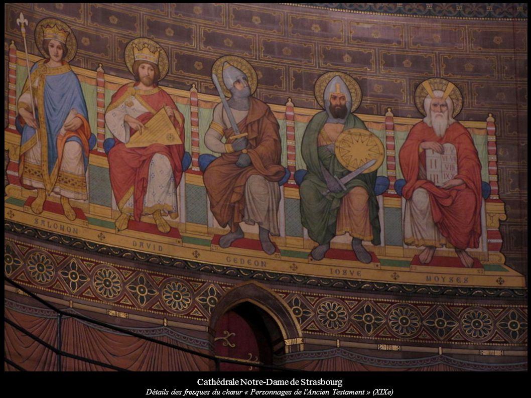 Cathédrale Notre-Dame de Strasbourg Détails des fresques du chœur « Personnages de l'Ancien Testament » (XIXe)