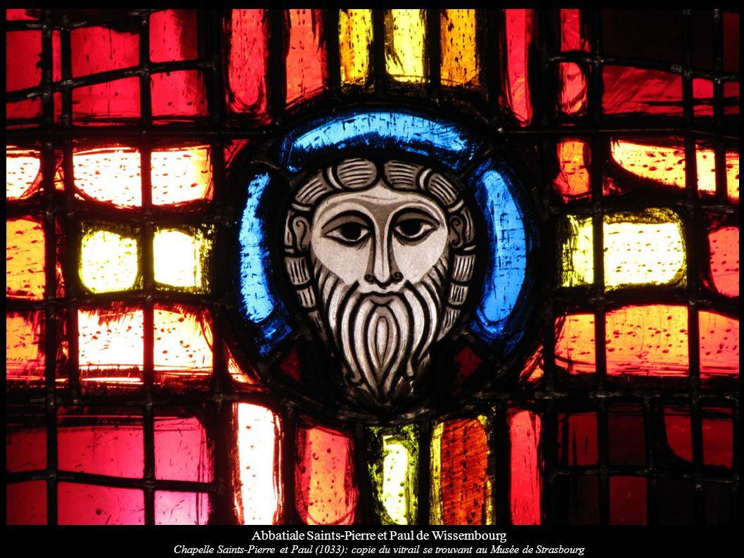 Abbatiale Saints-Pierre et Paul de Wissembourg Chapelle Saints-Pierre et Paul (1033): copie du vitrail se trouvant au Musée de Strasbourg