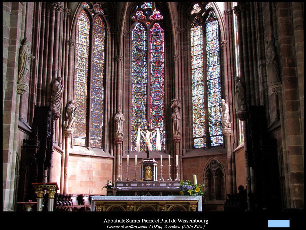 Abbatiale Saints-Pierre et Paul de Wissembourg Chœur et maître-autel (XIXe), Verrières (XIIIe-XIXe)