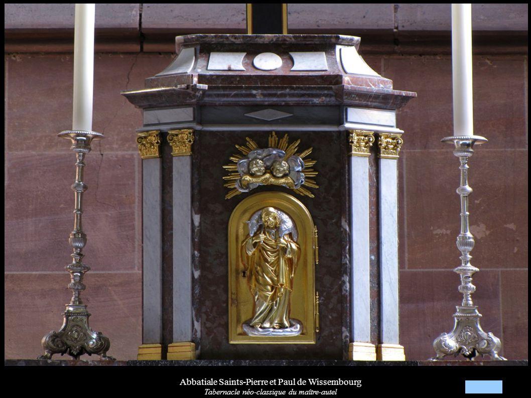 Abbatiale Saints-Pierre et Paul de Wissembourg Tabernacle néo-classique du maître-autel