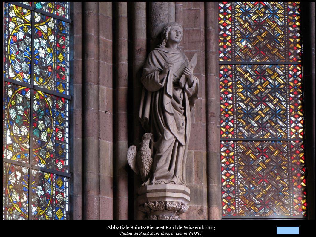 Abbatiale Saints-Pierre et Paul de Wissembourg Statue de Saint-Jean dans le chœur (XIXe)
