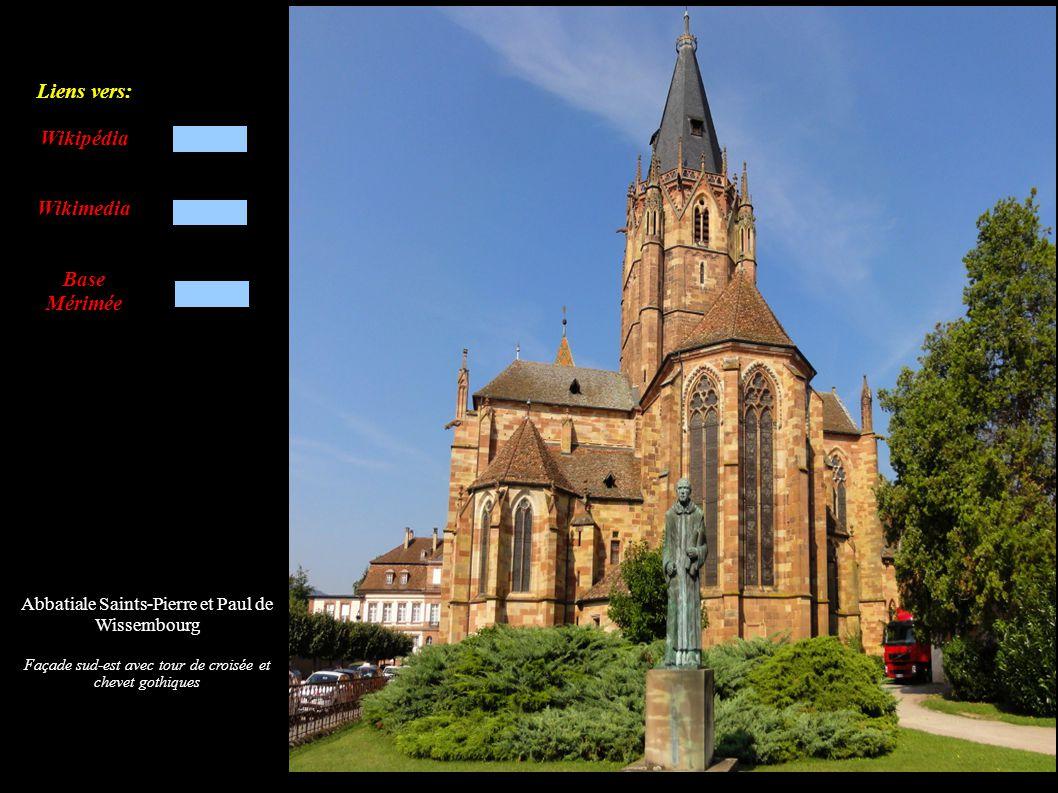 Abbatiale Saints-Pierre et Paul de Wissembourg Chaire à prêcher (1599) Abat-voix (XIXe)