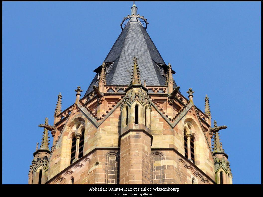 Abbatiale Saints-Pierre et Paul de Wissembourg Tour de croisée gothique