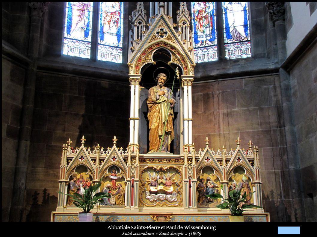 Abbatiale Saints-Pierre et Paul de Wissembourg Autel secondaire « Saint-Joseph » (1896)