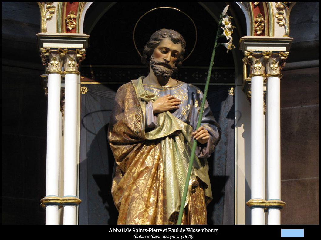Abbatiale Saints-Pierre et Paul de Wissembourg Statue « Saint-Joseph » (1896)