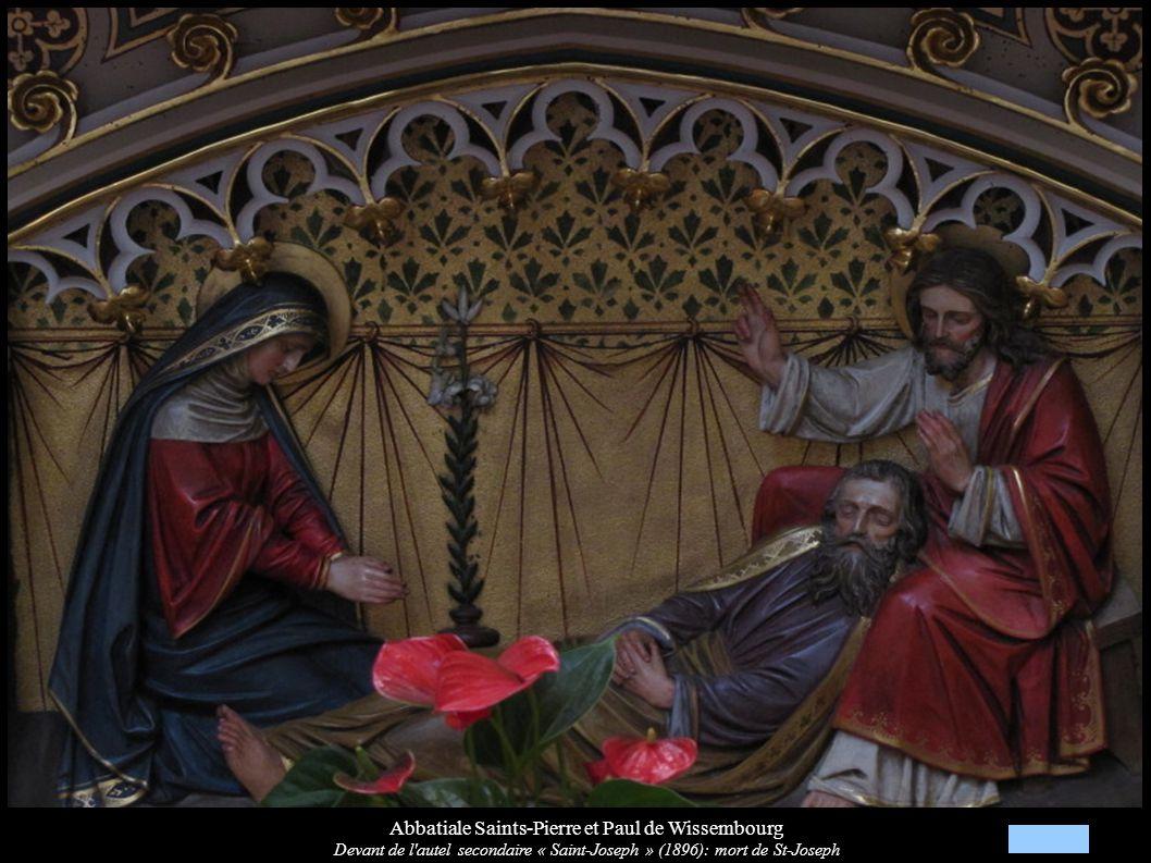 Abbatiale Saints-Pierre et Paul de Wissembourg Devant de l'autel secondaire « Saint-Joseph » (1896): mort de St-Joseph
