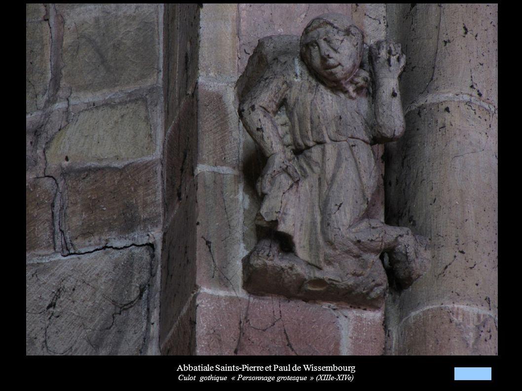 Abbatiale Saints-Pierre et Paul de Wissembourg Culot gothique « Personnage grotesque » (XIIIe-XIVe)