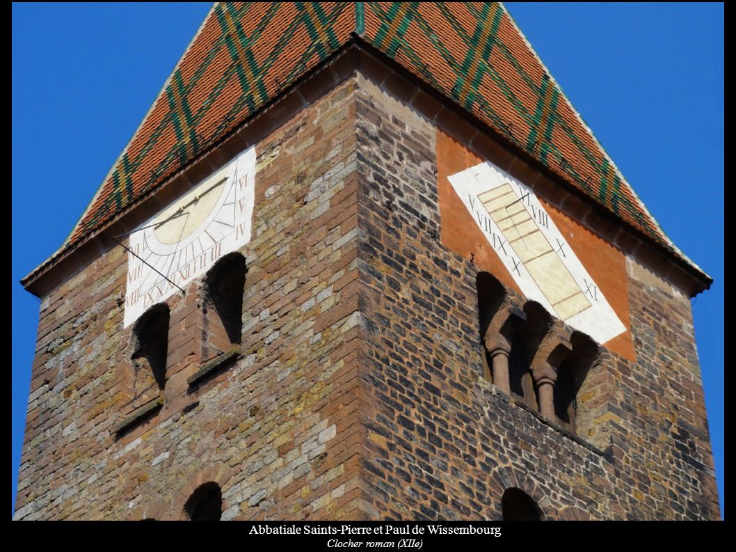 Abbatiale Saints-Pierre et Paul de Wissembourg Fonts baptismaux (XIe)