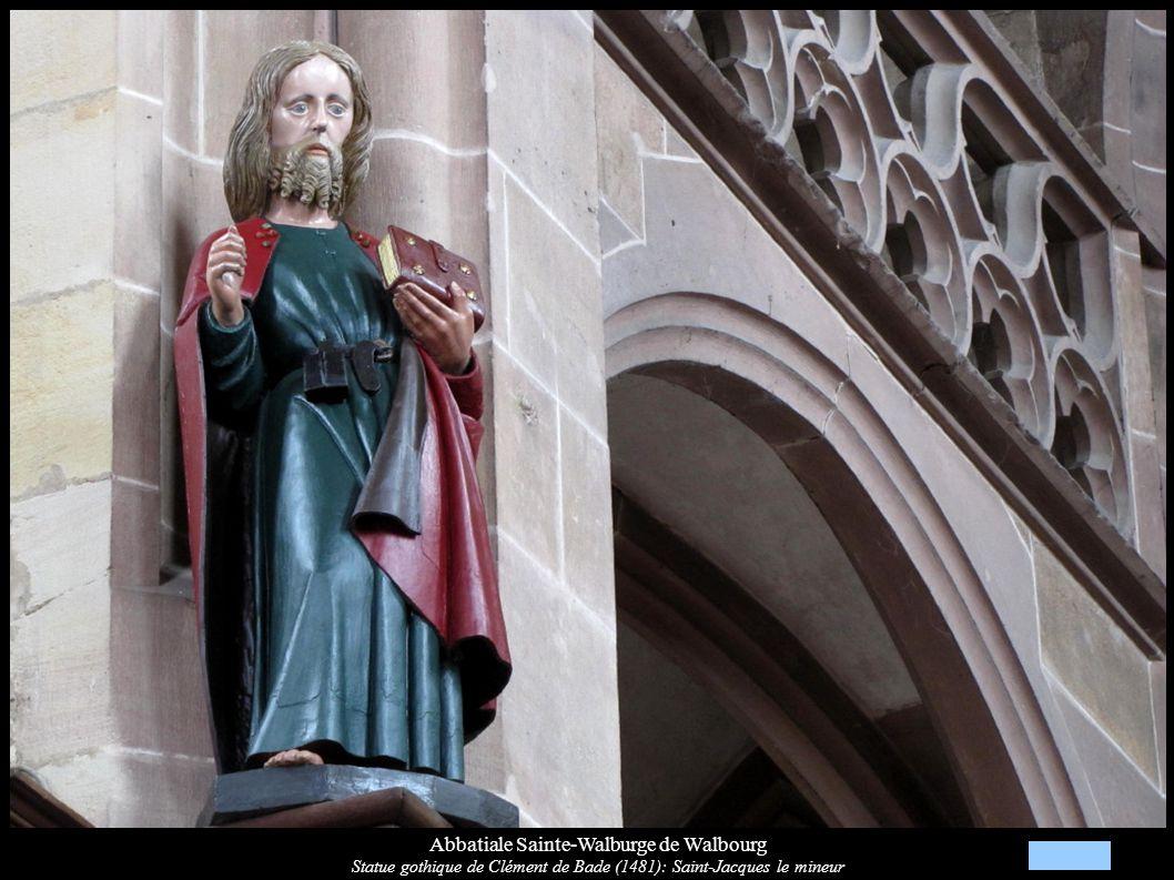 Abbatiale Sainte-Walburge de Walbourg Statue gothique de Clément de Bade (1481): Saint-Jacques le mineur