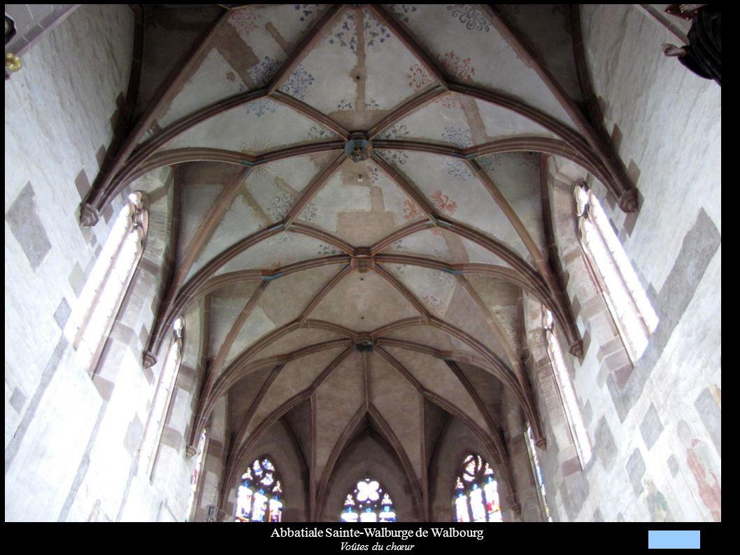 Abbatiale Sainte-Walburge de Walbourg Voûtes du chœur