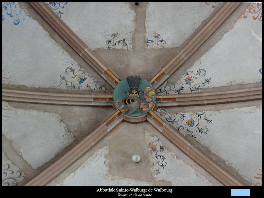 Abbatiale Sainte-Walburge de Walbourg Voûtes et clé de voûte