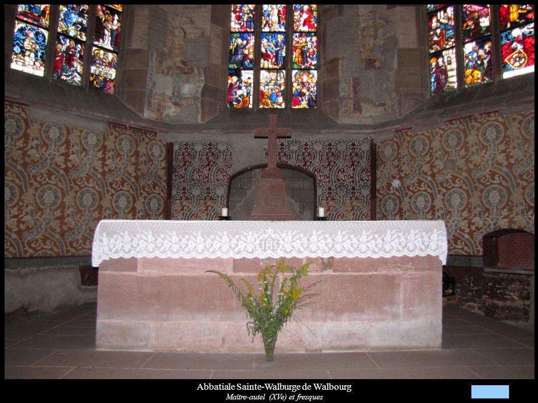 Abbatiale Sainte-Walburge de Walbourg Maître-autel (XVe) et fresques