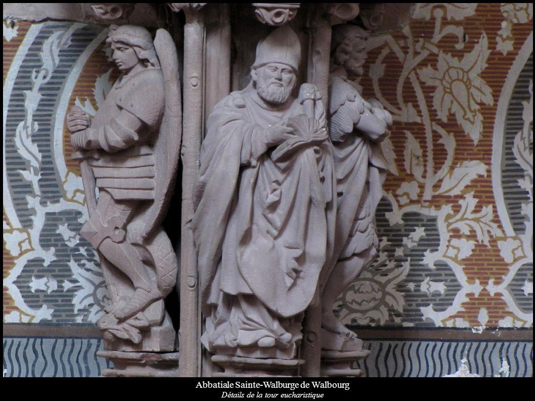 Abbatiale Sainte-Walburge de Walbourg Détails de la tour eucharistique