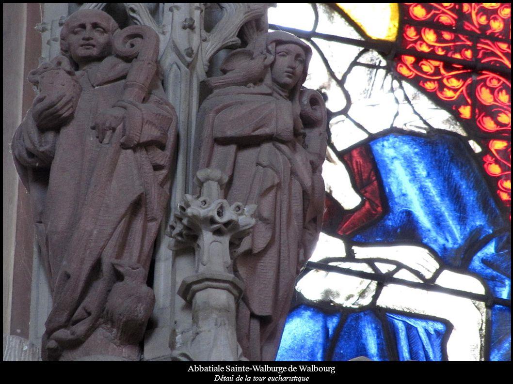 Abbatiale Sainte-Walburge de Walbourg Détail de la tour eucharistique