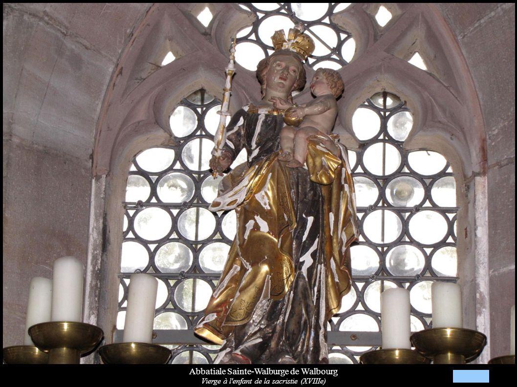 Abbatiale Sainte-Walburge de Walbourg Vierge à l'enfant de la sacristie (XVIIIe)