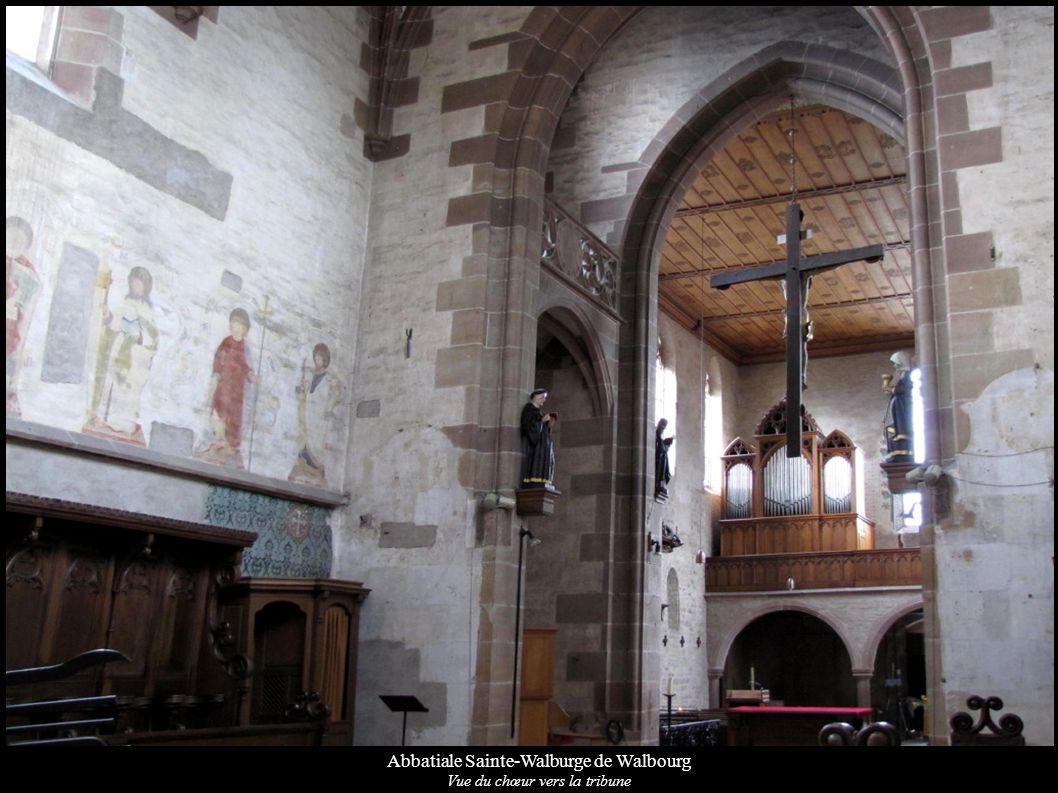 Abbatiale Sainte-Walburge de Walbourg Vue du chœur vers la tribune