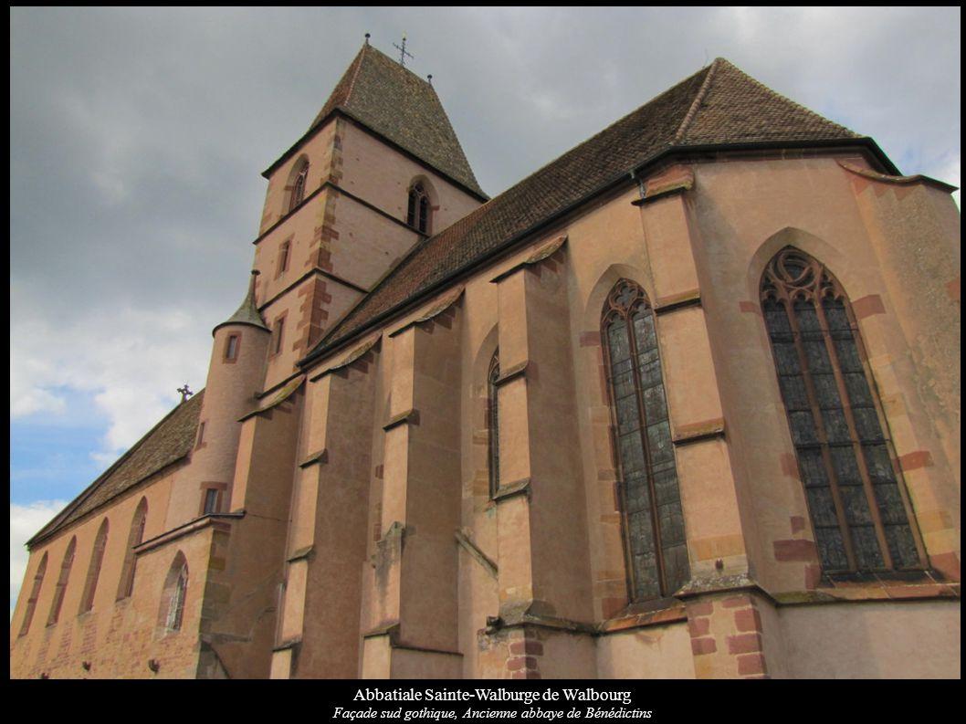 Abbatiale Sainte-Walburge de Walbourg Façade sud gothique, Ancienne abbaye de Bénédictins