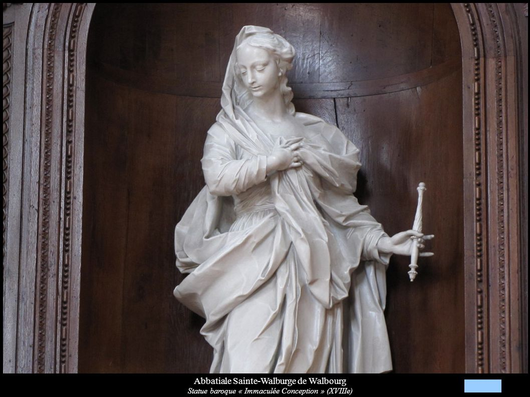 Abbatiale Sainte-Walburge de Walbourg Statue baroque « Immaculée Conception » (XVIIIe)