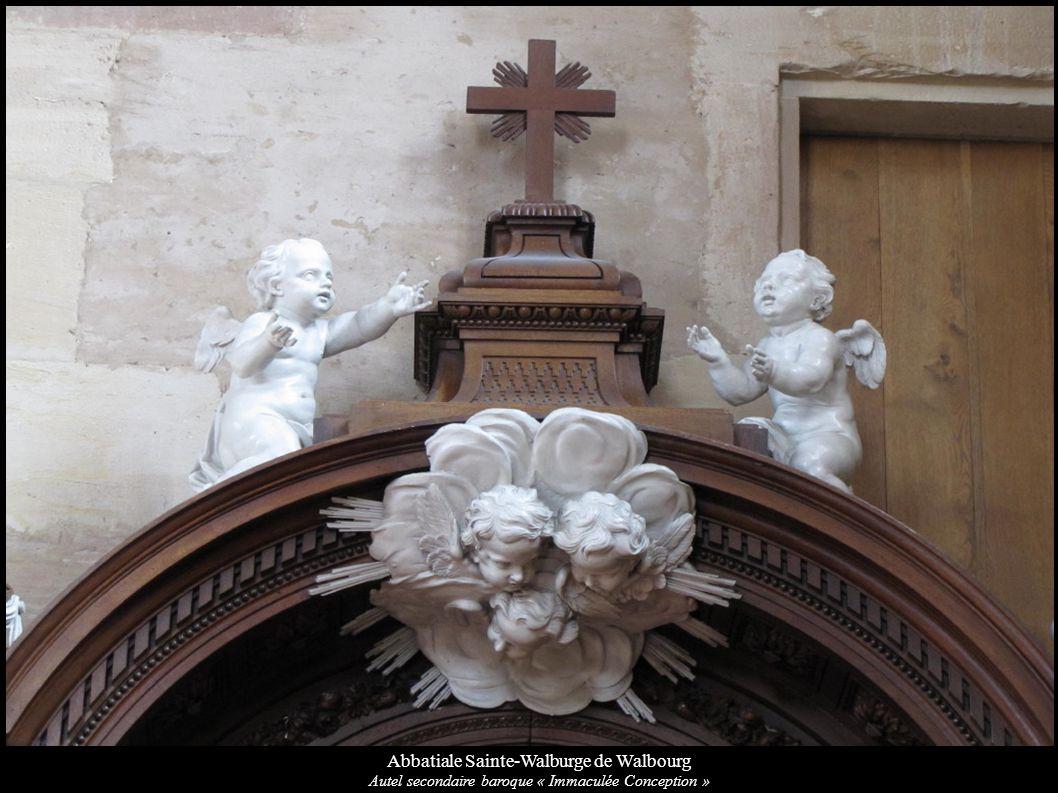 Abbatiale Sainte-Walburge de Walbourg Autel secondaire baroque « Immaculée Conception »