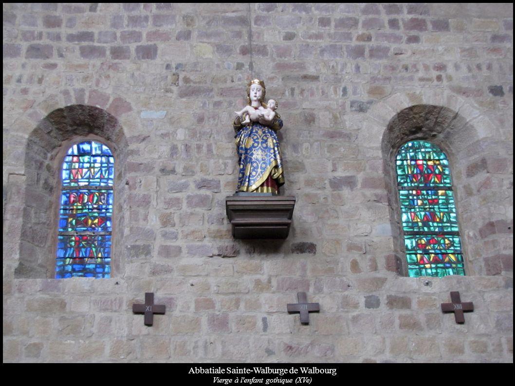 Abbatiale Sainte-Walburge de Walbourg Vierge à l'enfant gothique (XVe)