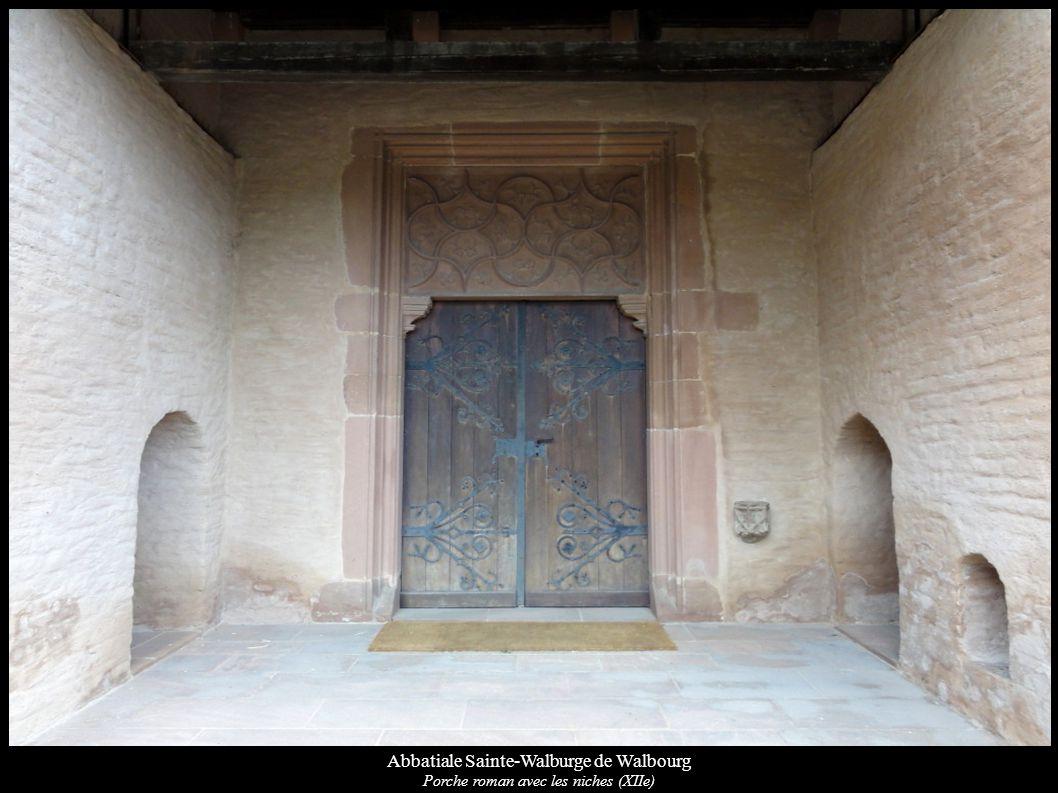 Abbatiale Sainte-Walburge de Walbourg Autre verrière gothique (XVe): St-Benoît, Ste-Walburge (XVe) (baie 4)
