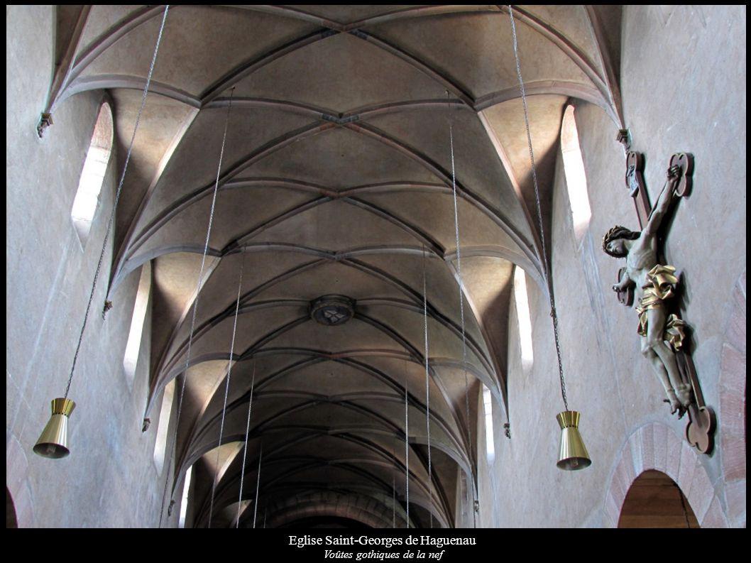 Eglise Saint-Georges de Haguenau Voûtes gothiques de la nef