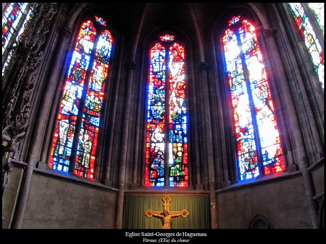 Eglise Saint-Georges de Haguenau Vitraux (XXe) du chœur