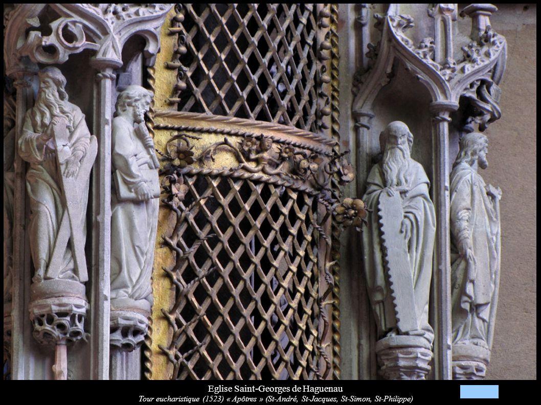 Eglise Saint-Georges de Haguenau Tour eucharistique (1523) « Apôtres » (St-André, St-Jacques, St-Simon, St-Philippe)
