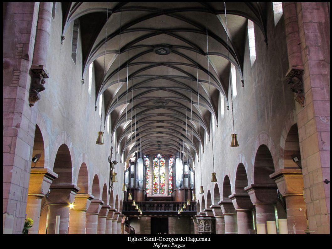 Eglise Saint-Georges de Haguenau Nef vers l'orgue