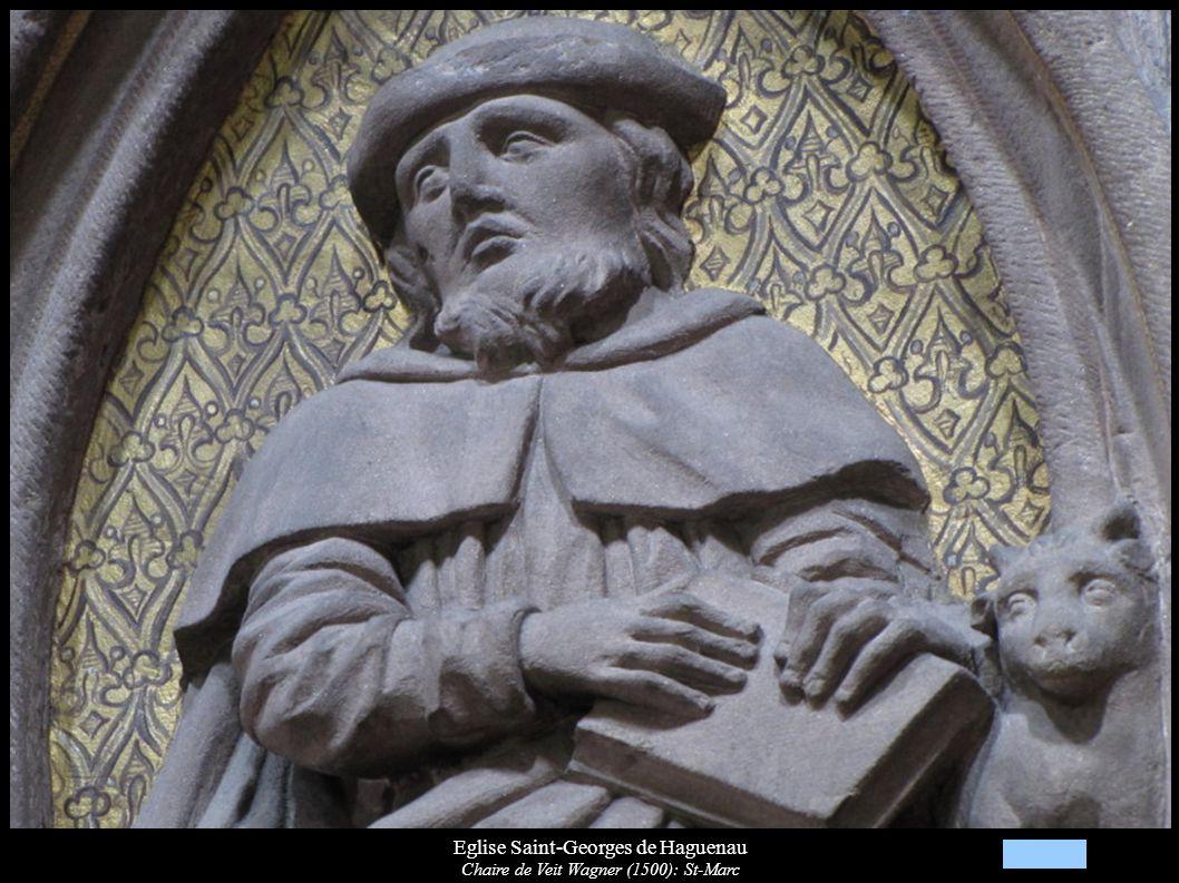 Eglise Saint-Georges de Haguenau Chaire de Veit Wagner (1500): St-Marc