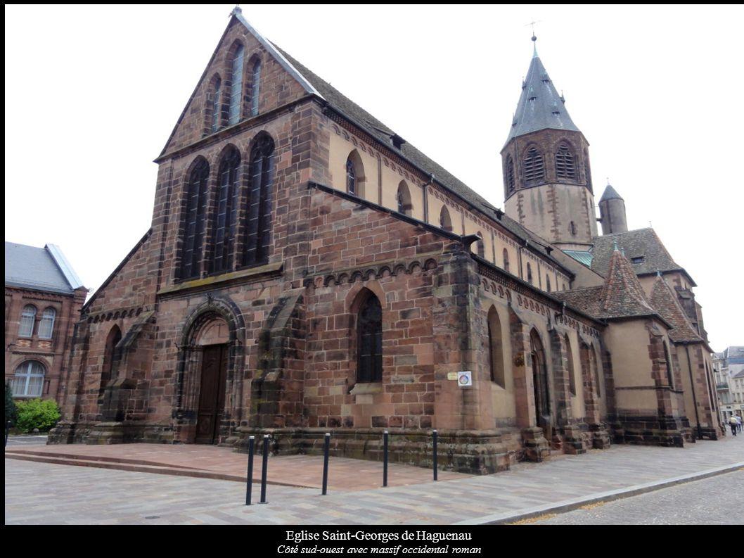 Eglise Saint-Georges de Haguenau Côté sud-ouest avec massif occidental roman