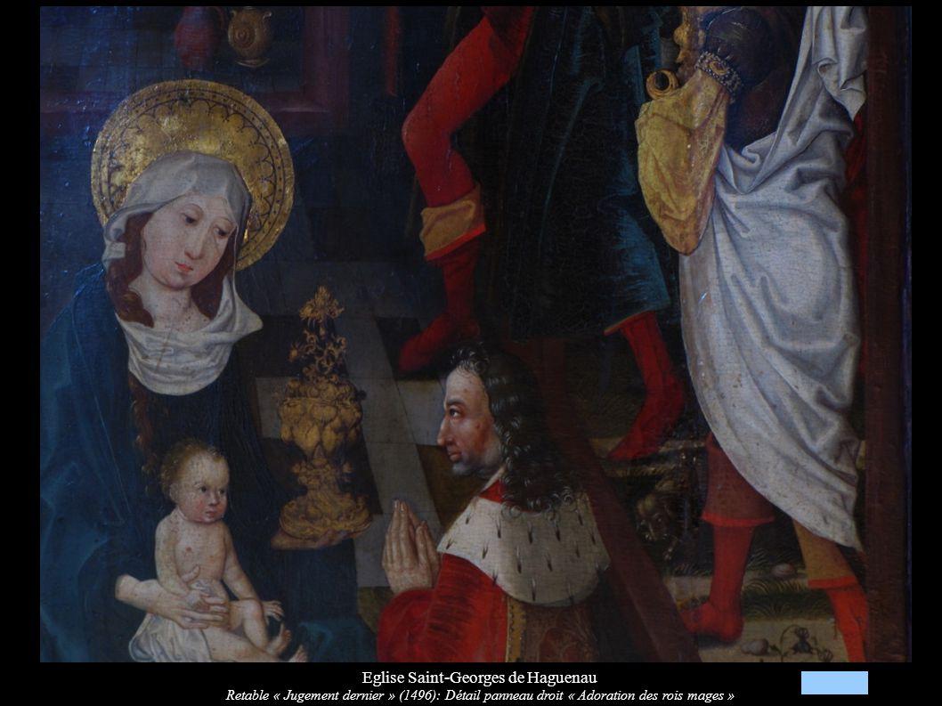 Eglise Saint-Georges de Haguenau Retable « Jugement dernier » (1496): Détail panneau droit « Adoration des rois mages »