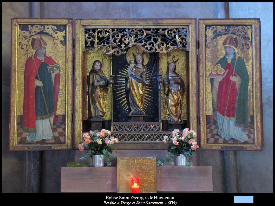 Eglise Saint-Georges de Haguenau Retable « Vierge et Saint-Sacrement » (XVe)