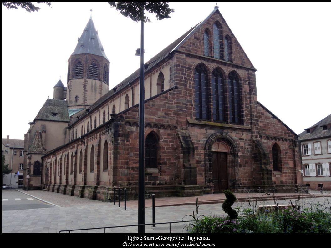 Eglise Saint-Georges de Haguenau Côté nord-ouest avec massif occidental roman