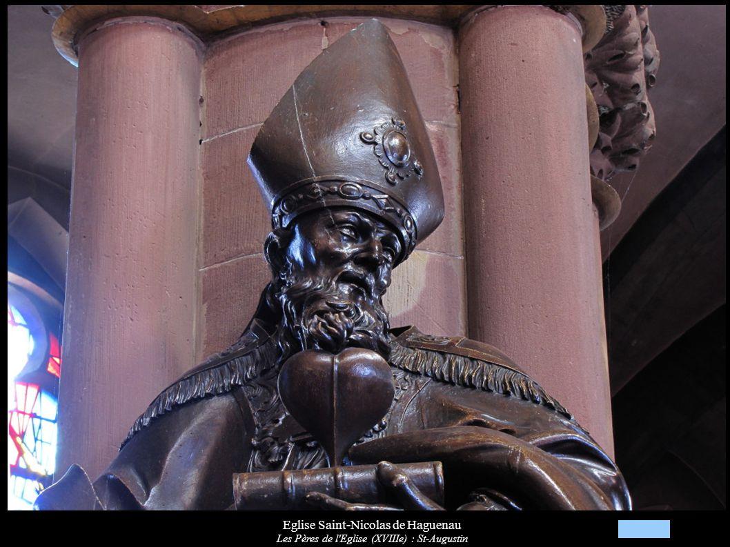 Eglise Saint-Nicolas de Haguenau Les Pères de l Eglise (XVIIIe) : St-Augustin