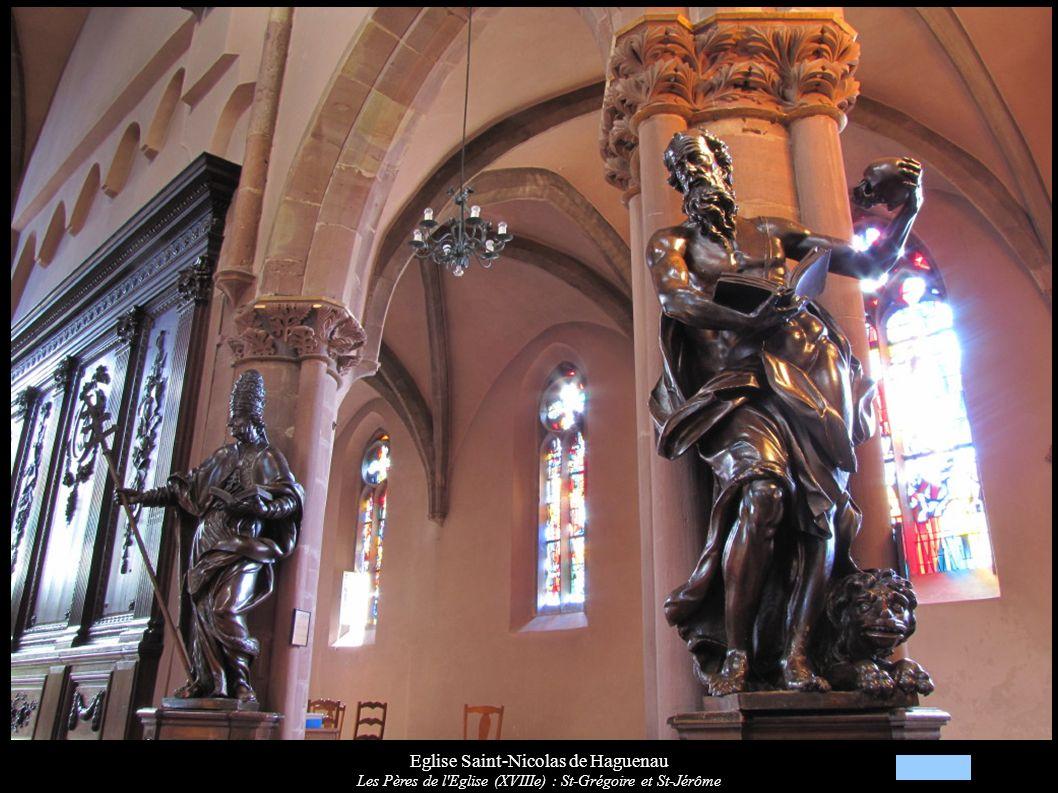Eglise Saint-Nicolas de Haguenau Les Pères de l Eglise (XVIIIe) : St-Grégoire et St-Jérôme