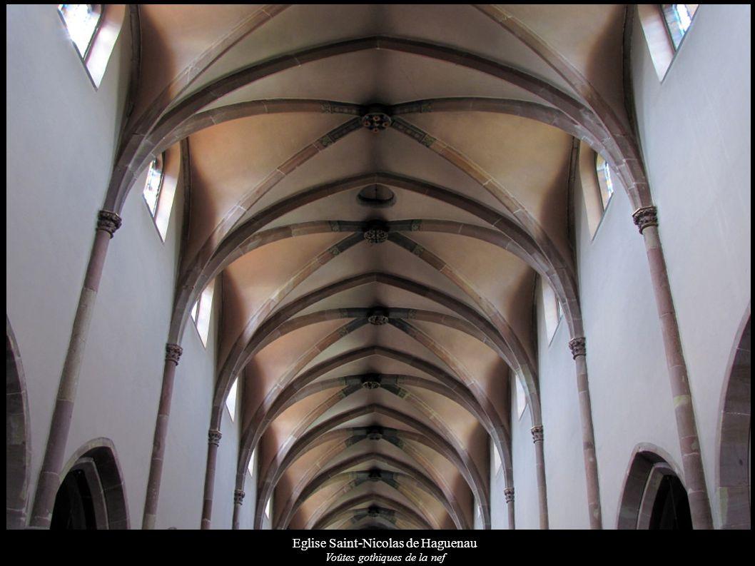 Eglise Saint-Nicolas de Haguenau Voûtes gothiques de la nef