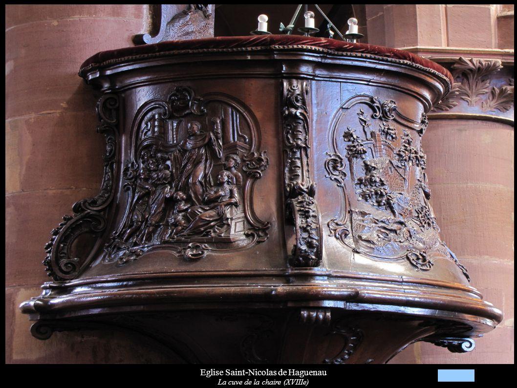 Eglise Saint-Nicolas de Haguenau La cuve de la chaire (XVIIIe)
